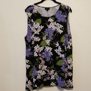 J. Jill Wearever Collection floral tank